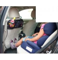 Apsauga sėdynės nugaros (trys kišenėlės,skaidrus)