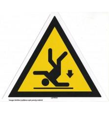 """Lipdukas """"Įspėjimas apie pavojų nukristi"""""""