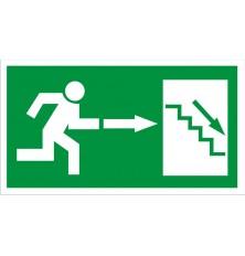 Lipdukas Laiptai žemyn į dešinę