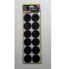 Padukai baldų kojoms, juodi, apvalūs 40mm, 12vnt