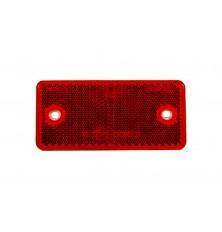 Atspindys 90x40mm su skylutėm raudonas