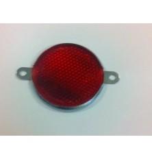 Atspindys apvalus 80mm su metalinėm auselėm raudonas