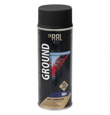 Gruntas aerozolinis,antikorozinis INRAL GROUND 400ml juodas